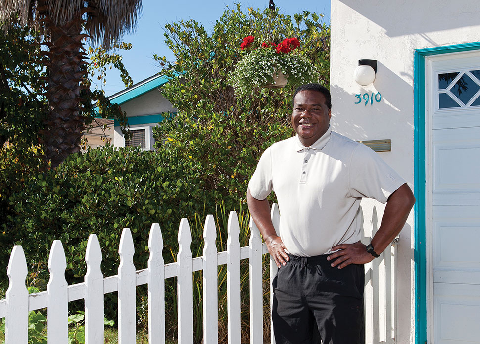"Jeffery Broussard bought his home in 2005 but encountered problems paying his mortgage in 2010. He soon began attending monthly clinics at San Diego County Public Library. ""There was a definite benefit to having the housing clinics in the library,"" he said. ""You knew you weren't going to be sold anything."" Photo: David Hartig"
