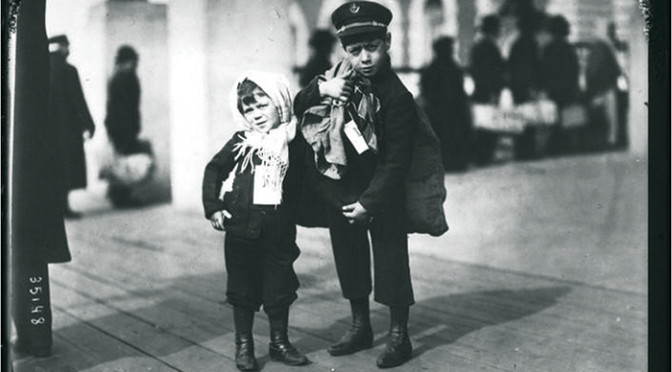 Ellis Island, 1913. An image from DPLA's exhibition on emigrants leaving Europe for America.