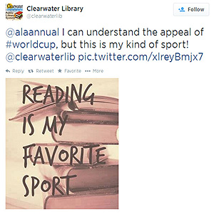 @alaannual I can understand the appeal of #worldcup, but this is my kind of sport! @clearwaterlib