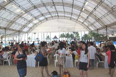 IFLA's cultural evening in Singapore inside the Tanjong Beach Club on Sentosa Island. Photo by Carlon Walker