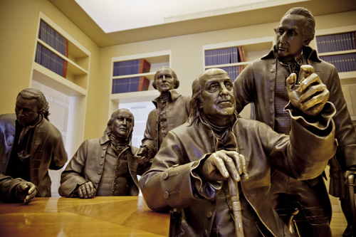 Statue of Founding Fathers at Signer's Hall