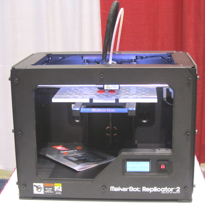 A 3D printer, from Detroit Public Library's HYPE Maker Space