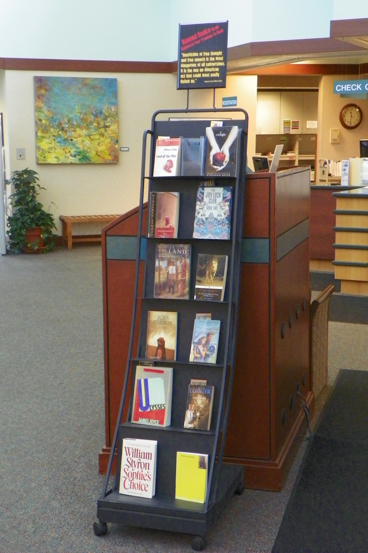 Reading picks in honor of the week-long BBW observance are on display at Lake Villa (Ill.) Public Library.
