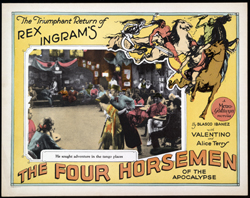 The Four Horsemen of the Apocalypse, a silent film selected for inclusion in the National Film Registry