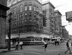 The Monticello Hotel, 108 East City Hall Ave., Norfolk, Virginia, circa 1950.
