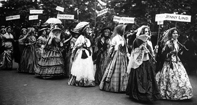 Suffragettes in London, June 19, 1911