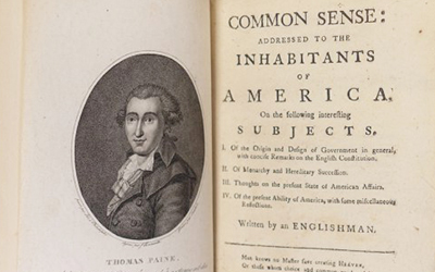 Thomas Paine's Common Sense, 1776