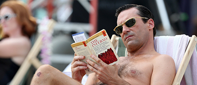 Jon Hamm as Don Draper reads Dante