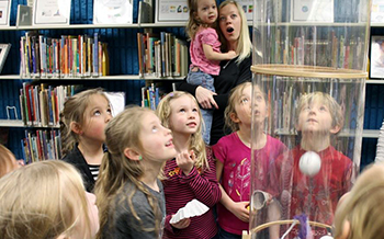Science experiment at ImagineIF Libraries, Flathead County, Montana