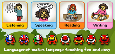 Languagenut.com includes resources for teaching 12 world languages, including Spanish, Chinese, German, Arabic, Haitian Creole.