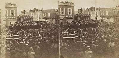 Lincoln's funeral procession, Philadelphia