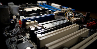 The motherboard is the central hub of your system, through which all the other components (processor, RAM, hard drive etc.) communicate.
