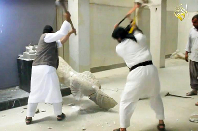 A new video purports to show Islamic State militants destroying ancient Assyrian artifacts inside a Mosul museum. This video appeared days after 255 Assyrian Christians reportedly went missing in Syria.