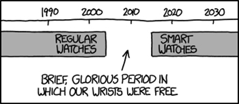 XKCD: Brief, glorious period in which our wrists were free.
