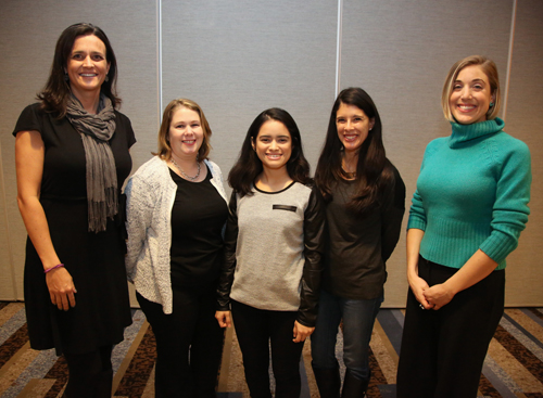 Team A. From left: Shannon Harris, Melissa Iamonico, Johana Orellana, Christina Cucci, Holly Van Puymbroeck