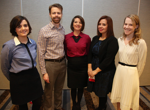 Team D. From left: Anita Kinney, Tom Bober, Ella Mulford-Chinn, Karla Carillo, Stephanie Long