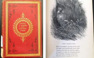 The Poetry of Nature. Left: Cover. Right: Interior illustration