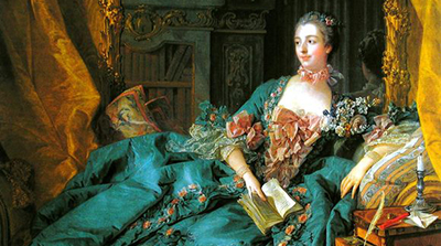 Francois Boucher's Madame de Pompadour, 1756, oil on canvas portrait