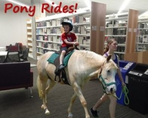 Austin (Tex.) Community College Libraries offered pony rides for one day only.