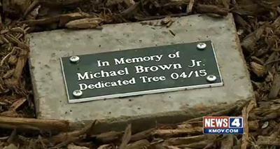 Michael Brown memorial stone