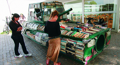 Raul Lemesoff's Weapon of Mass Instruction looks like a tank, but only delivers free books in Buenos Aires, Argentina