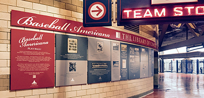 The display at Nats Park explores baseball's roots and D.C.'s baseball past