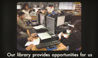 Screenshot from Milby High School digital storytelling entry