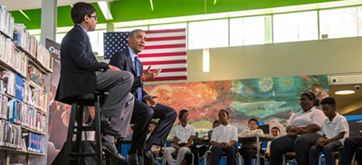 President Obama's town hall meeting at which he made the announcement about the ebook app