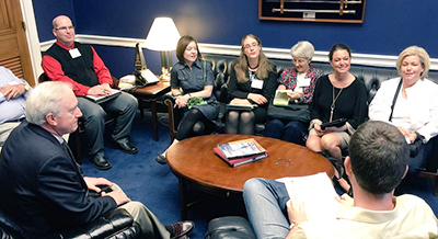 Kentucky librarians and friends meeting in Rep. Guthrie 's office