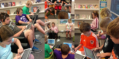Solon CSD students using technology