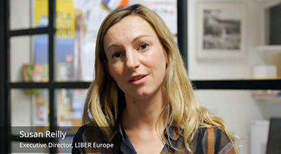 Susan Reilly, executive director, LIBER Europe. Screenshot from video