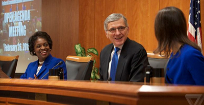 FCC Chair Tom Wheeler and two other commissioners