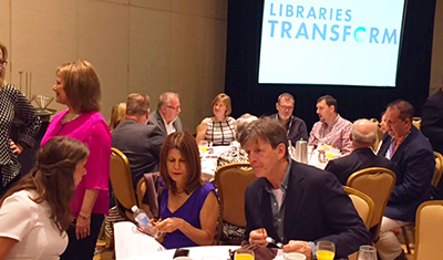Sari Feldman at the ALA Inaugural Brunch