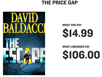 Ebook price discrepancy, as tweeted by Edmonton Public Library, @EPLdotCA