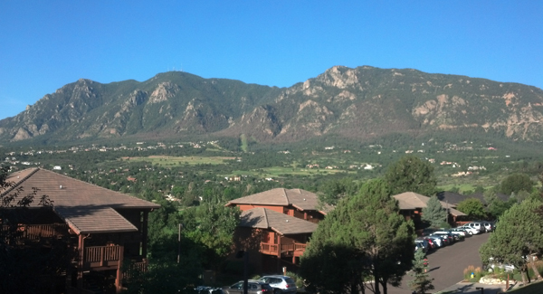 The view from Cheyenne Mountain Resort, Colorado Springs, Colo. (Photo by James LaRue)