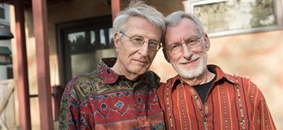 Jack Baker, left, and Michael McConnell at their home in Minneapolis. In 1970, they became the first same-sex couple in the nation known to apply for a marriage license. Photo by Angela Jimenez for The New York Times