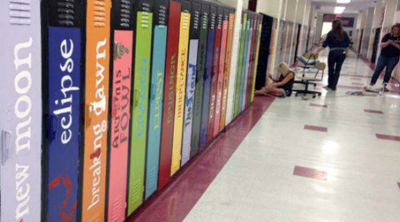 Repainted Biloxi (Miss.) Junior High lockers