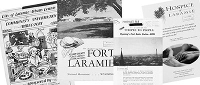 Ephemera from the local history reference collection at Albany County (Wyo.) Public Library