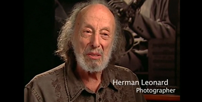 Herman Leonard, music photographer. Screenshot from Grammy Foundation video