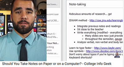 Note taking: Paper or laptop?