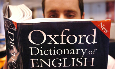 The free online version of the Oxford Dictionary has released a list of the latest additions. Photograph: Ian Nicholson/PA