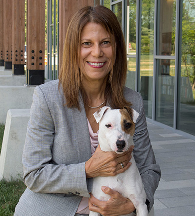 ALA President Sari Feldman with her dog, Grady.