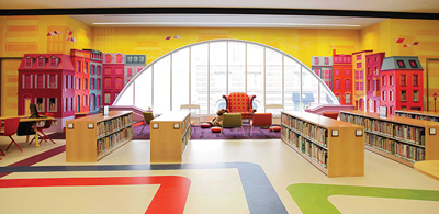 Renovated children's space, Central Library, Boston Public Library