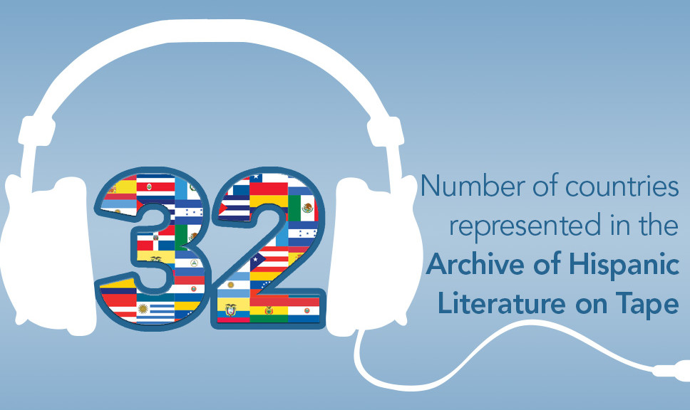32: Number of countries represented in the Archive of Hispanic Literature on Tape, which includes readings in Aymara, Catalan, Dutch, English, French, Nahuatl, Portuguese, Spanish, and Zapotec.