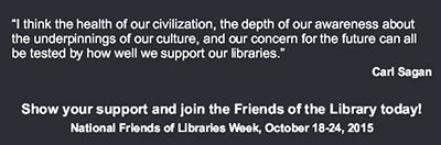 National Friends of Libraries Week bookmark