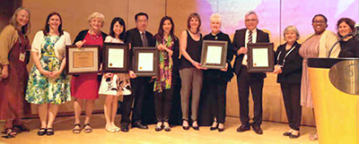 The presentation of ALA Presidential Citations for Innovative International Library Projects at the International Relations Round Table (IRRT) International Librarians' Reception on June 29, 2015, in San Francisco