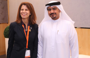ALA President Sari Feldman and Sharjah Book Authority Chairman Ahmed Al Amiri ready to welcome attendees and open the conference.