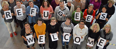 Refugees are welcome at Linköpings Stadsbibliotek in Sweden
