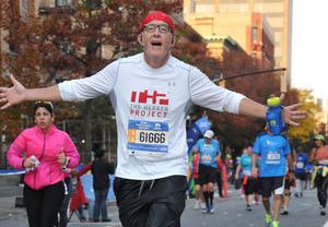 Tom Rickard finishes the NYC Marathon