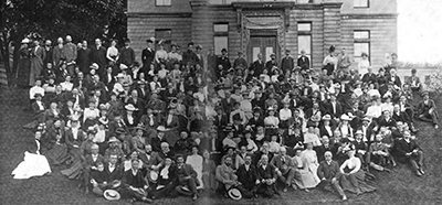 ALA members attending the Annual Conference in Montreal made a side trip to McGill University, where they posed for this photo on June 9, 1900